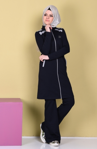 Navy Blue Sweatsuit 0360-02