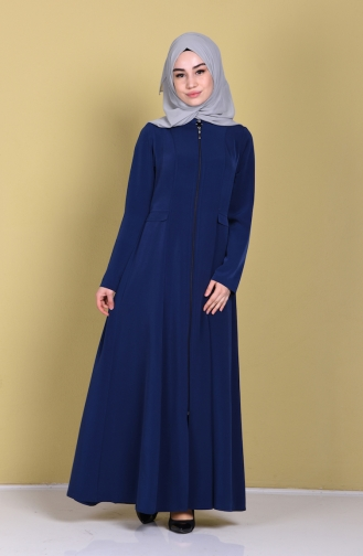 Abaya 1061A-03 Bleu Marine Clair 1061A-03