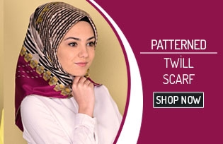 Patterned Twill Scarf 50153