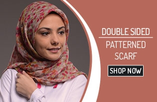 Double Sided Patterned Scarf 50154
