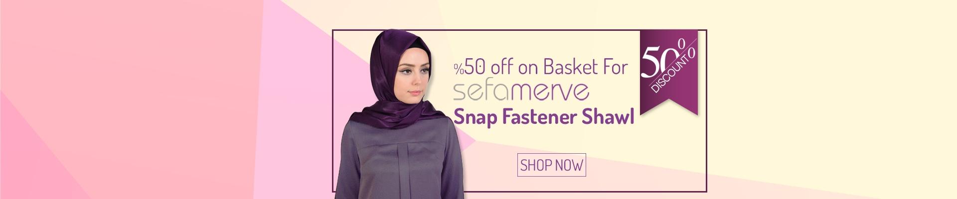 %50 off on Basket For Sefamerve Snap Fastener Shawl