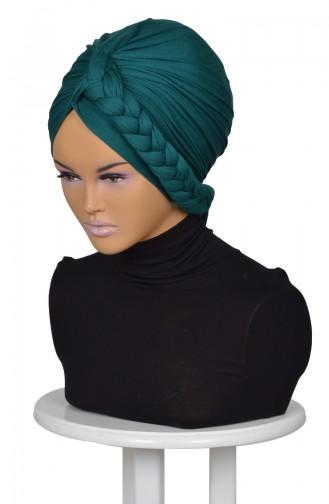Bonnet aus Gekämmte Baumwolle-Dunkel Grün B0003-14 0003-14