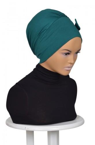 Bonnet aus Gek¨æmmte Baumwolle-Dunkel Grün B0005-14 0005-14