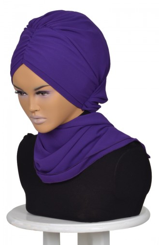 Purple Ready to wear Turban 0049-20