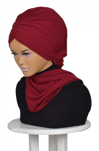 Claret red Ready to wear Turban 0049-7