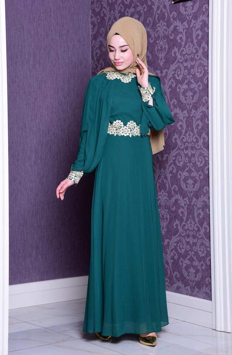 e95338f5365 Green Dress 2836-03