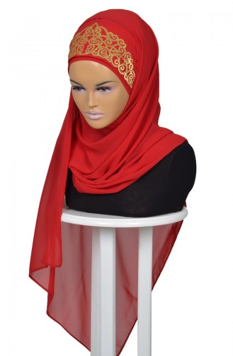 Red Ready to wear Turban 0005-26