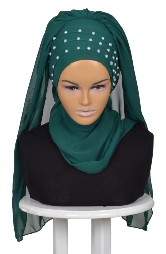 Emerald Ready to wear Turban 0060-12