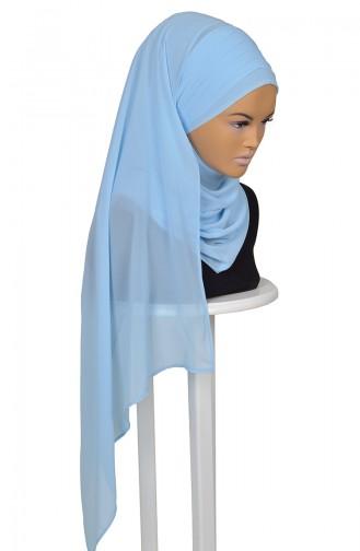 Kreuz Praktisch Schal aus ChiffonL-Baby Blau CPS0062-27 0062-27