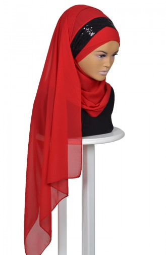 Red Ready to wear Turban 0077