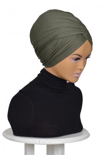 Bonnet aus Gekämmte Baumwol-Khaki Grün HT0298-13 0298-13