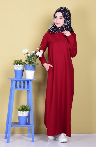 Robe Hijab Bordeaux 1283-03