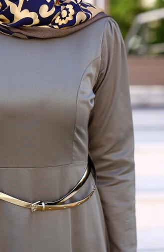 فستان لون كاكي 2201-14
