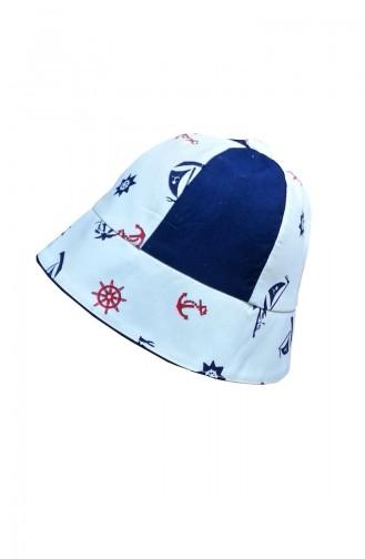 Chapeau NS119 Bleu Marine Blanc 119