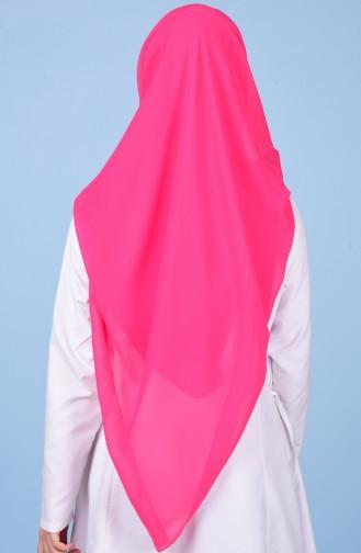 Übergröße Kopftuch aus Kreppstoff 50024-57 Fuchsia 57