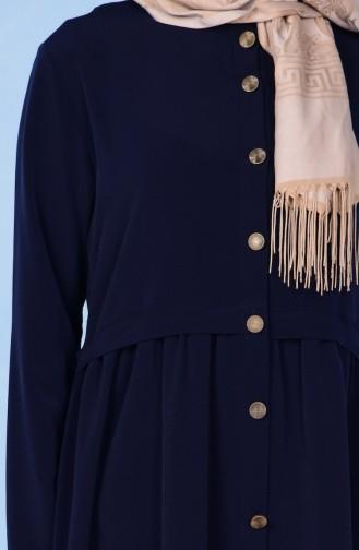 Navy Blue Abaya 2111-01