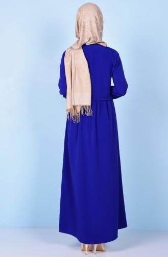 Saxon blue Abaya 2111-05