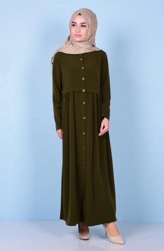 Green Abaya 2111-06