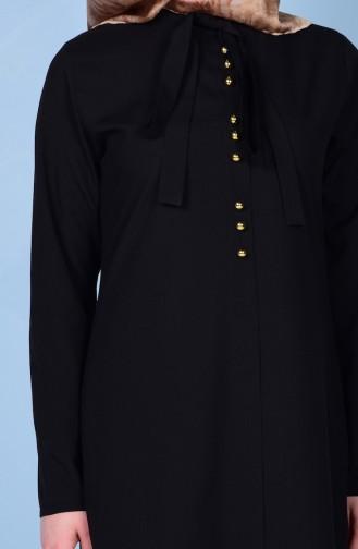 Kravat Yaka Tunik 1084-01 Siyah 1084-01