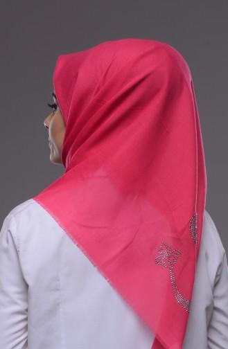 Strassstein Bedrucktes Kopftuch 71001-11 Pink 11