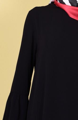 İspanyol Kol Uzun Tunik 6009-02 Siyah