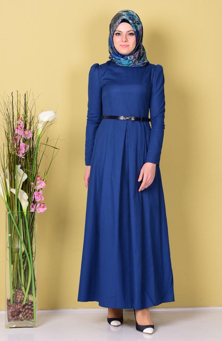 Tubanur Belted Dress 2781 06 Indigo 2781 06