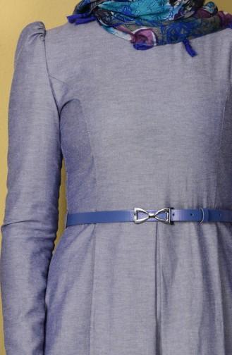 Robe avec Ceinture 2781-03 Bleu Jean 2781-03