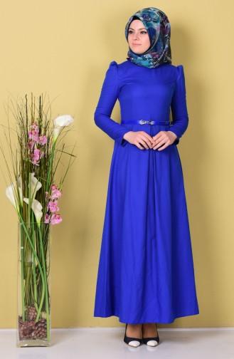 فستان لون ازرق  2781-11