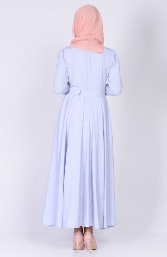 فستان بتصميم حزام للخصر 4102-02