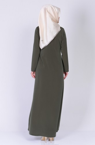 Khaki Abaya 1270-01