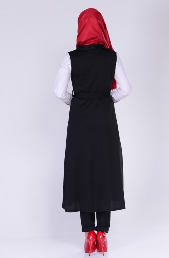 Gilet a Boutons 0450-01 Noir 0450-01