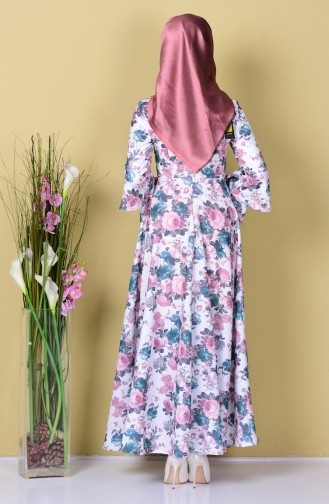 Smaragdgrün Hijap Kleider 4045-13
