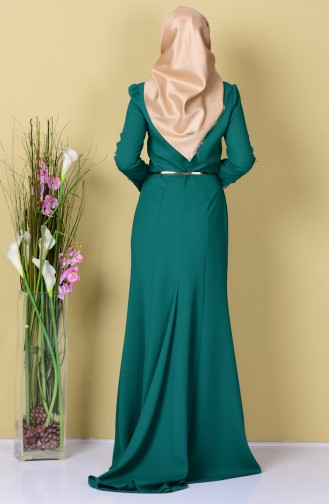 Habillé Hijab Vert 3006-04