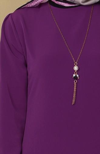 Purple İslamitische Jurk 4023-07