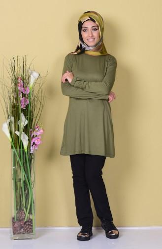 Sefamerve Basic Hijab 0728-17 Vert Khaki 0728-17