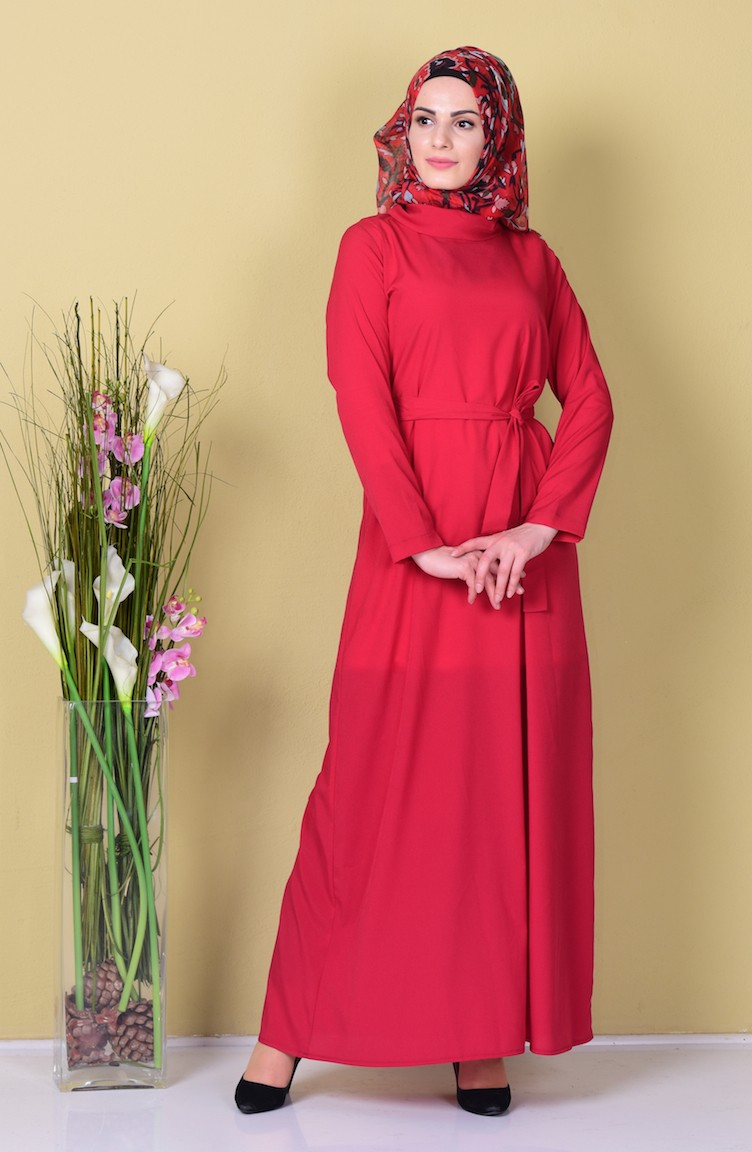 791a32908b2 Longue Robe Simple 80007-03 Bordeaux 80007-03