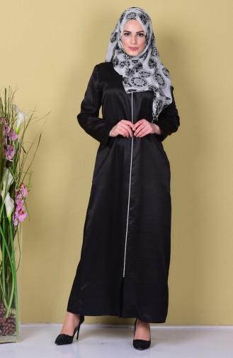 Abaya mit Reißverschluss 6013-03 Dunkelblau 6013-03