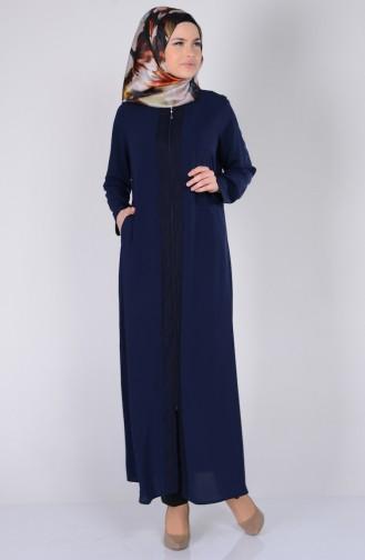 Navy Blue Abaya 1504-04