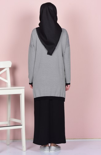 Gray Blouse 0416-01