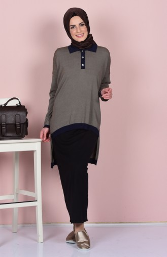 Blouse a Rayure 0416-03 Moutarde 0416-03