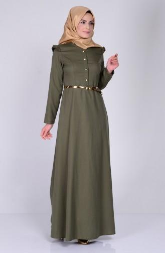 Khaki İslamitische Jurk 2255-04