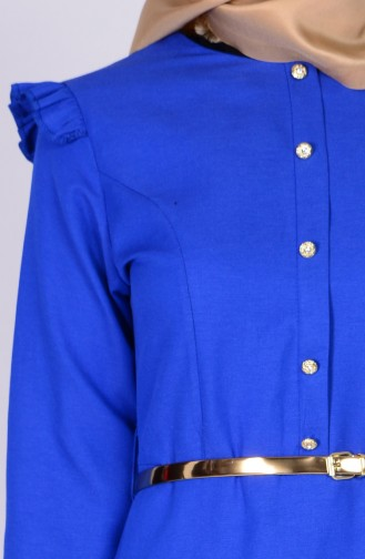 Falbel Kleid mit Gürtel 2255-09 Saks 2255-09