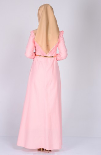 فستان بصميم كشكش عند الاكتاف  2255-03