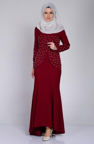 فستان بتفاصيل من الؤلؤ 3009-05