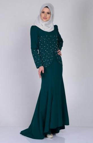 Kleide mit Perlen 3009-03 Smaragdgrün 3009-03
