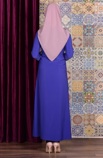Saxon blue Abaya 2113-08