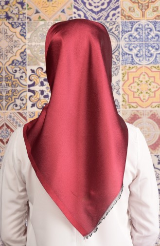 Dark Red Snap-Fastener Scarf 15
