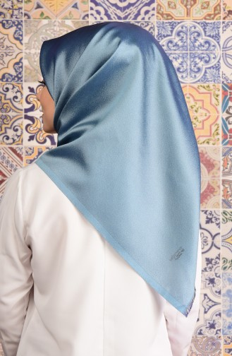 Light Blue Snap-Fastener Scarf 22