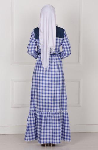 Saxon blue İslamitische Jurk 9178-02