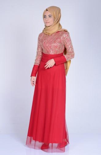 Claret red Dress 3059-03